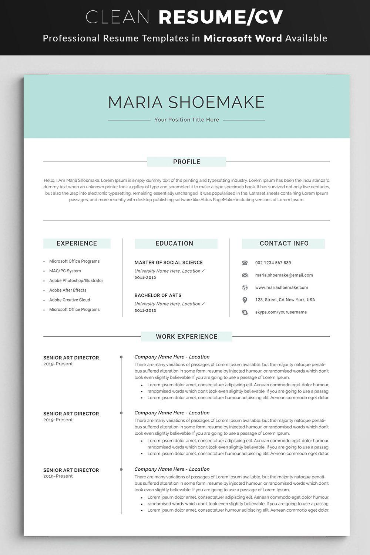Professional Resume Template Resume Template CV