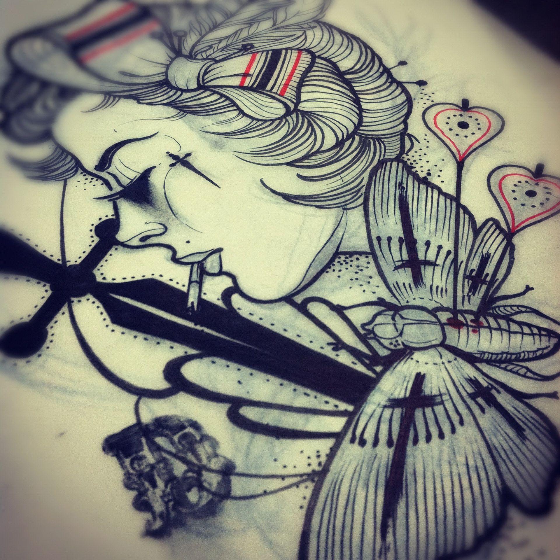 Dj Tambe Sketches Bad Apple Tattoo Las Vegas Nv Favorite