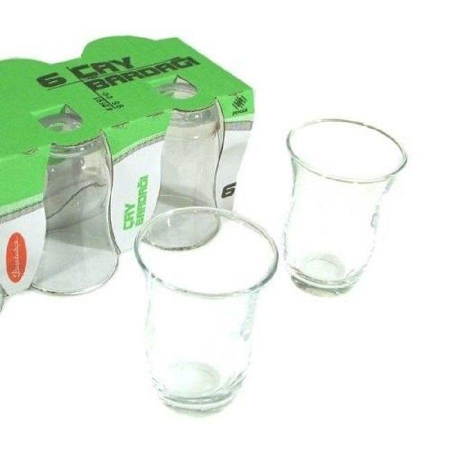 Turkish Tea Glass Set - Plain (6 Pieces) 95cc