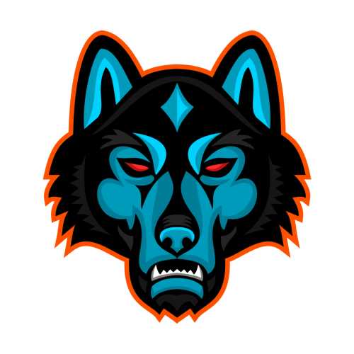 Timber Wolf Head Sports Mascot In 2021 Timber Wolf Wolf Head Wolf