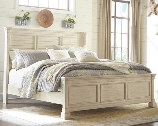 Bolanburg 3 Piece Queen Louvered Panel Bed   Antique White ...
