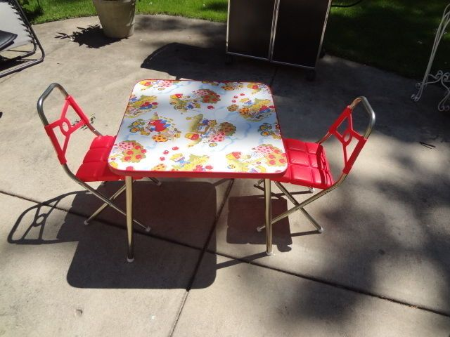 Vintage Strawberry Shortcake Child S Table And Chairs Set