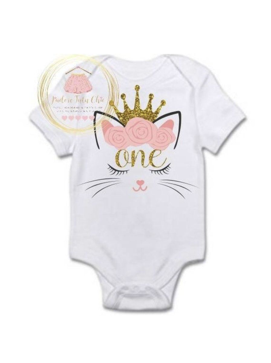 Cat Birthday Onesie Cat 1st Birthday Cat Birthday Shirt Kitty Cat J Adore Tutu Chic In 2020 Cat Birthday Birthday Shirts Kitten Birthday Party