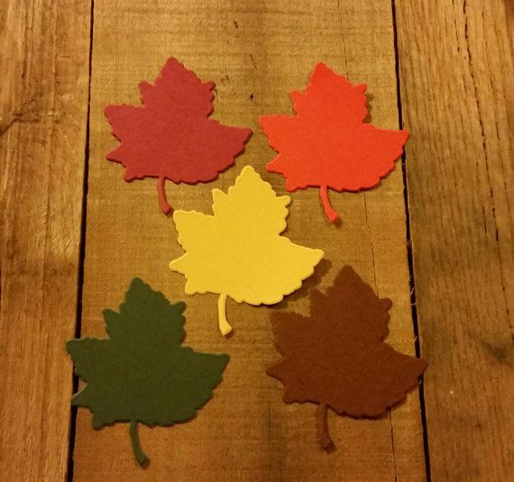 Paper Leaves,20 Large Fall Leaf Die Cuts , Fall Color Leaves, Autumn Leaf Die cut, fall placecards,  Scrapbook , Cards, Fall Wedding
