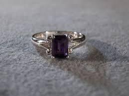 emerald cut amethyst ring - Google Search