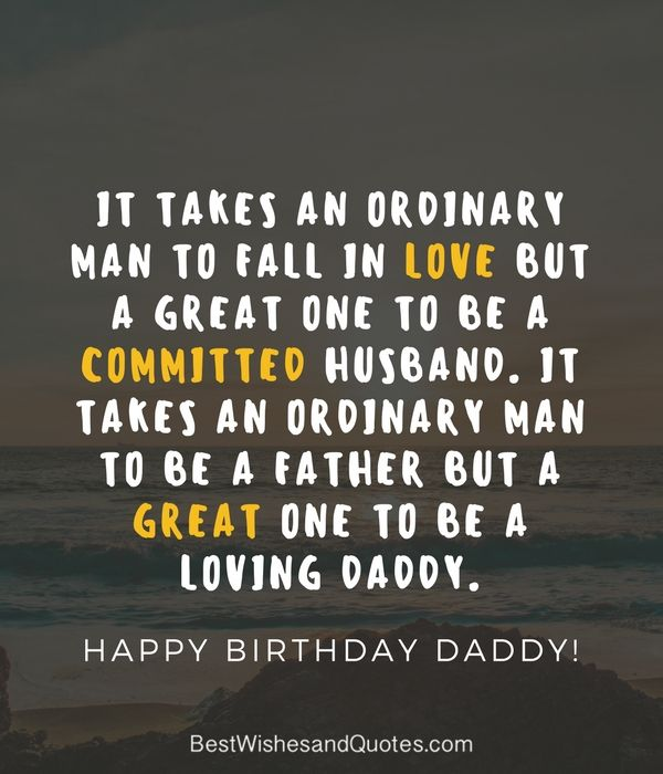 Happy Birthday Husband And Dad