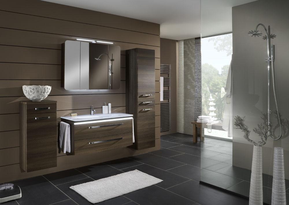 Marlin Spirit Badmöbel-Set mit Highboad, Hochschrank, Spiegelschrank - badezimmer waschbecken mit unterschrank