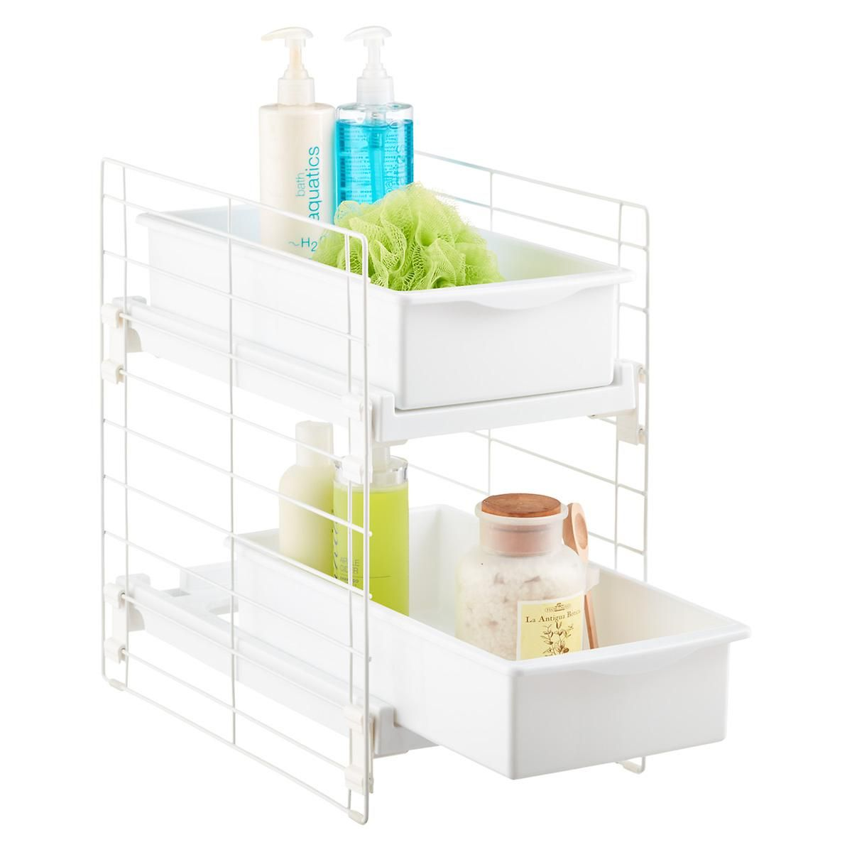 Iris sliding 2 drawer organizer bath 39 powder room - Bathroom vanity drawer organizers ...