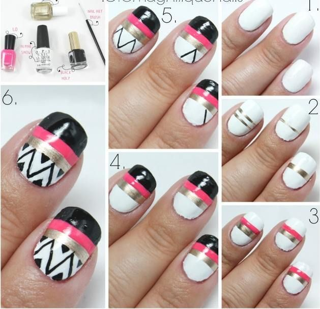 25 Easy Step By Nail Tutorials For Girls