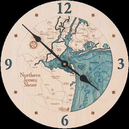 Northern Jersey Shore Clock Clock, Jersey shore, Wall