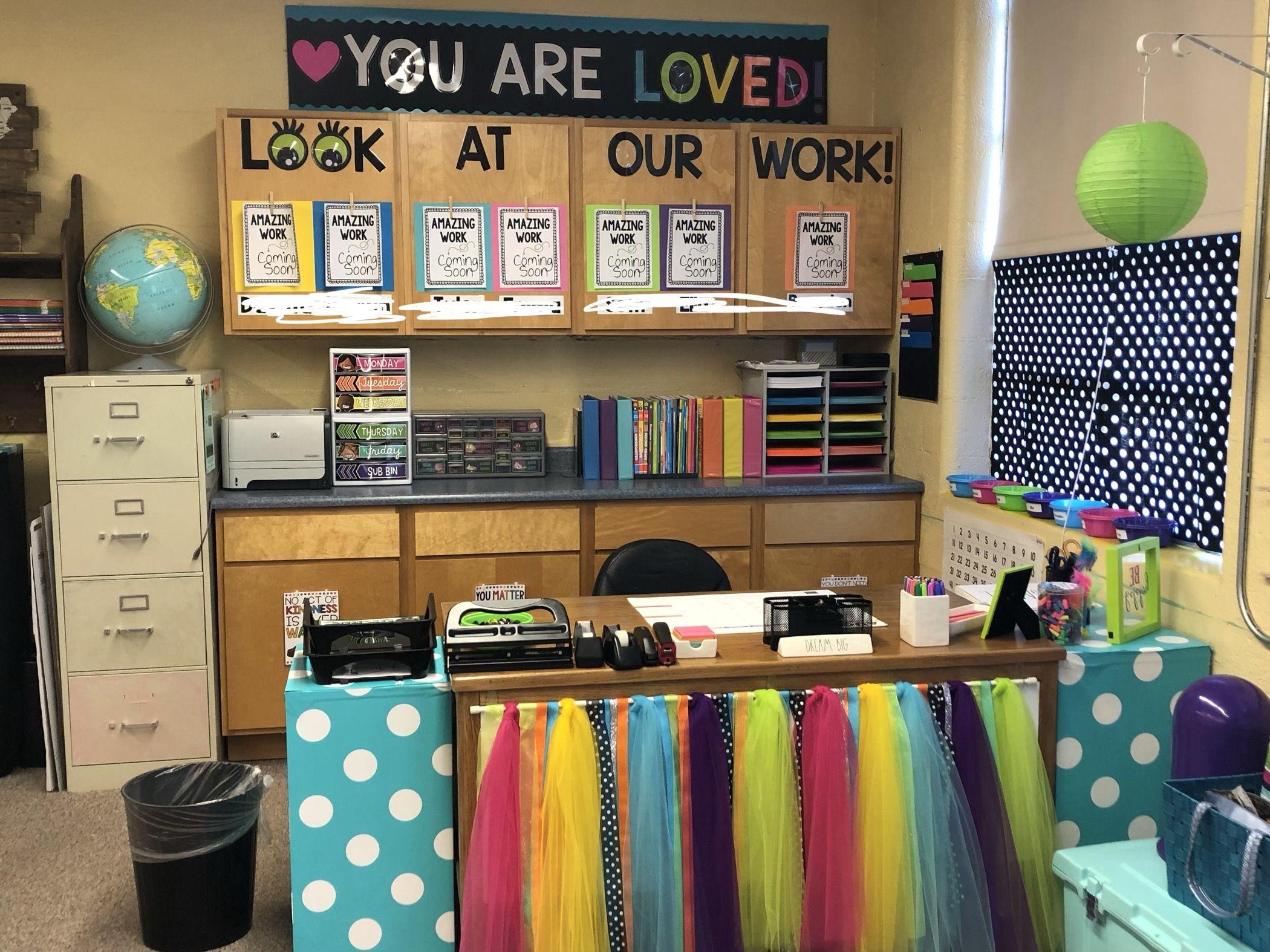 Specialeducation Decorative Teacher Desk Area Teacher Desk Areas Teacher Desk Decorations Teacher Desk