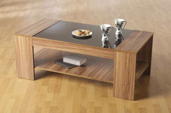 Hollywood Coffee Table For Home Living Room With Natural Wood