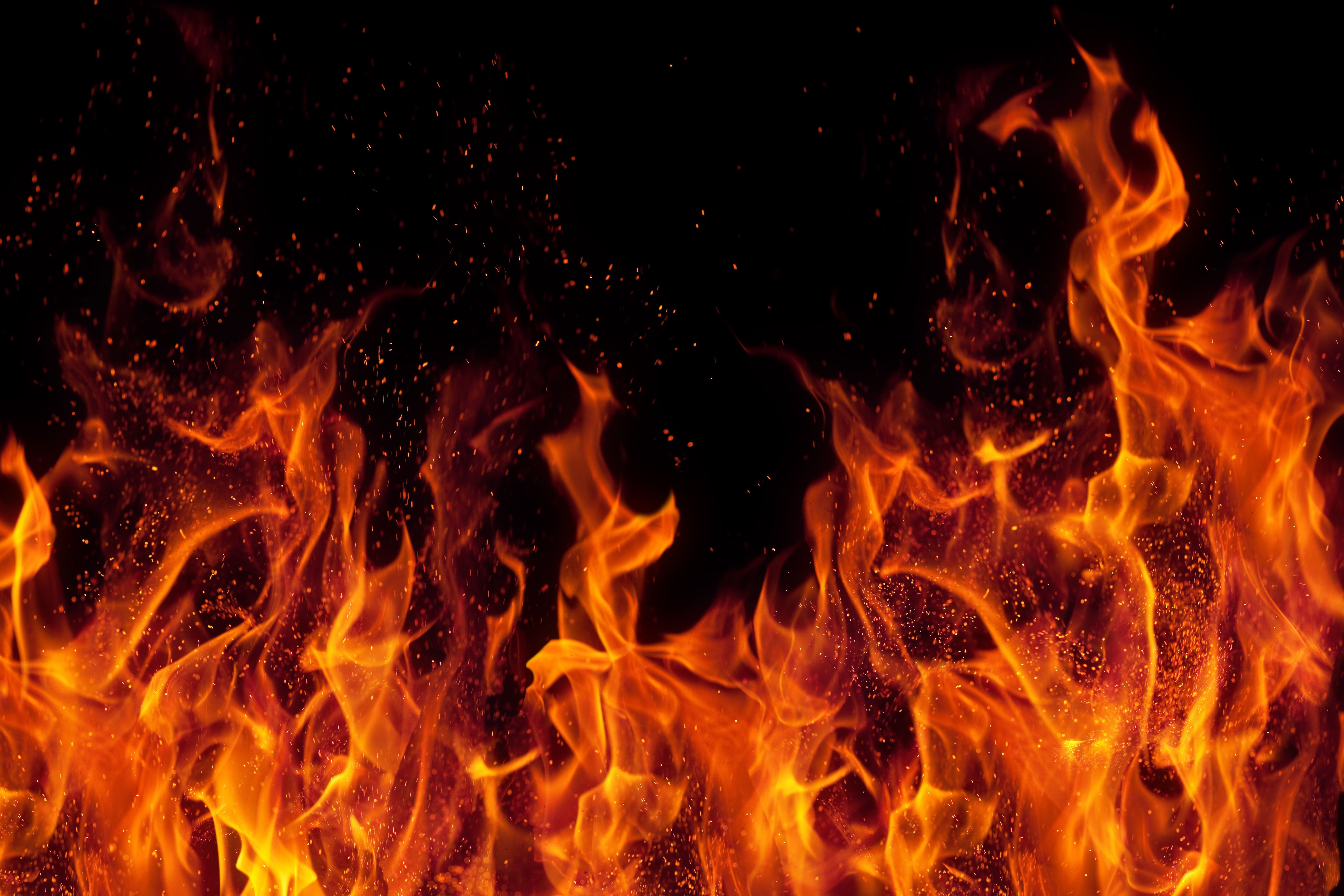 Flame Sparks Causes Of Fire Fire Image Background Hd Wallpaper