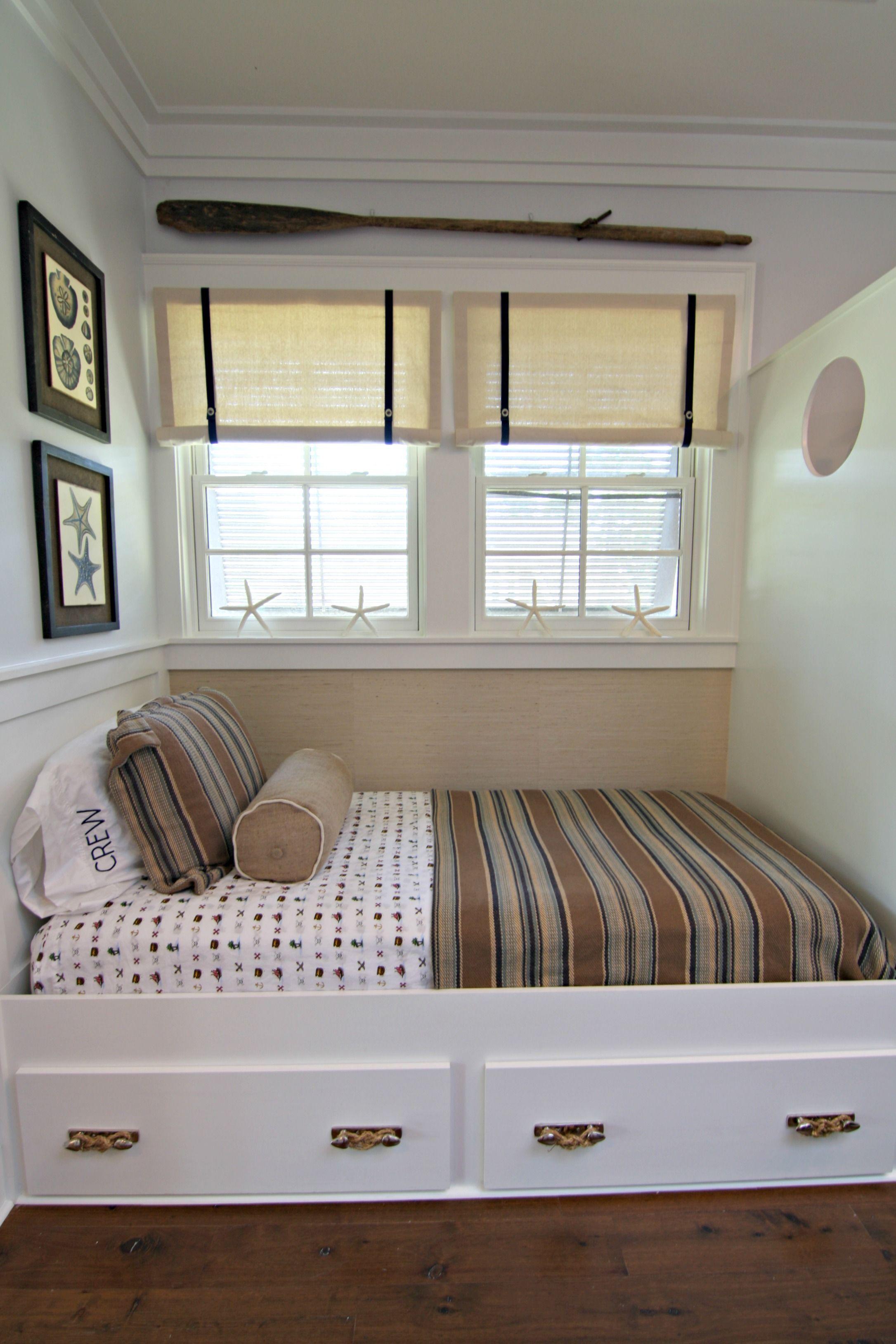 Custom built in bunk bed designed by Andrea Maulden of