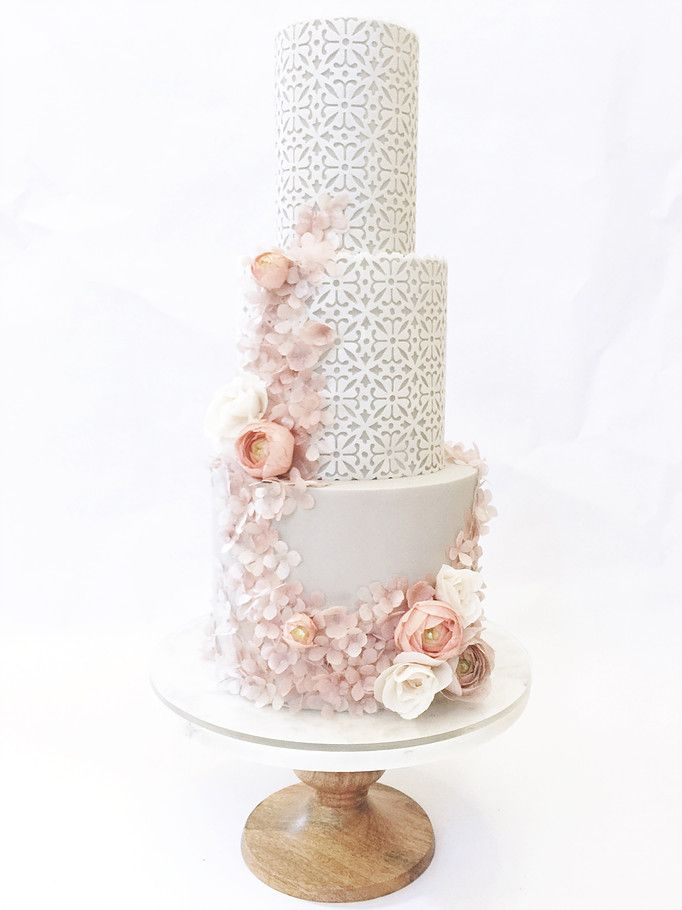 Superb Wedding Cakes | San Diego | Hey There Cupcake #lattice #pointelle #lace #