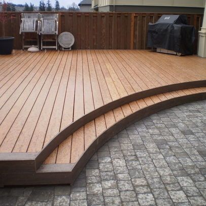 Low wood deck design pictures remodel decor and ideas for Wood deck ideas