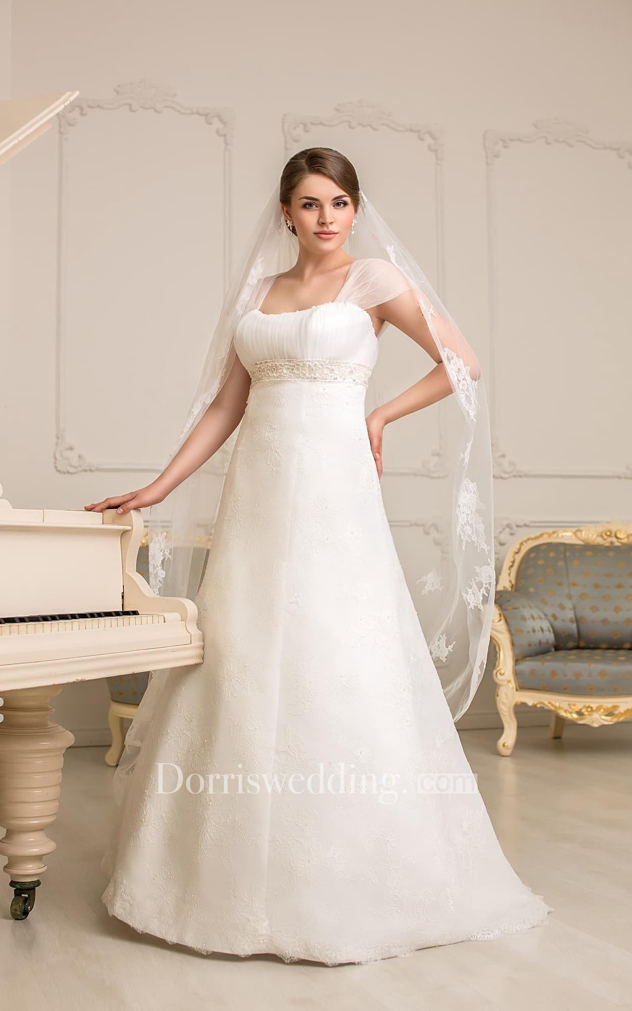 Dorris wedding dorris wedding aline floorlength squareneck cap