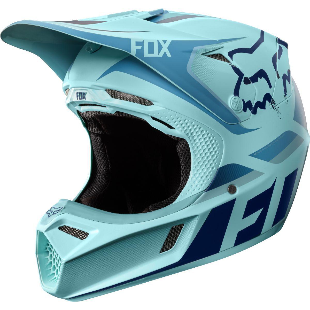 Fox 2016 Le Ken Roczen Seca V3 Ice Blue Helmet Dirt Bike Gear