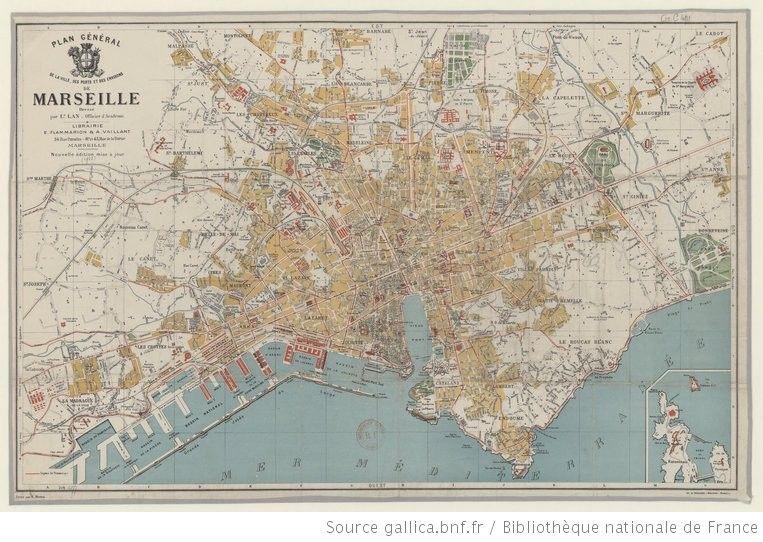 Marseille 1922 Cliquez Agrandissez Plan General De La Ville Des