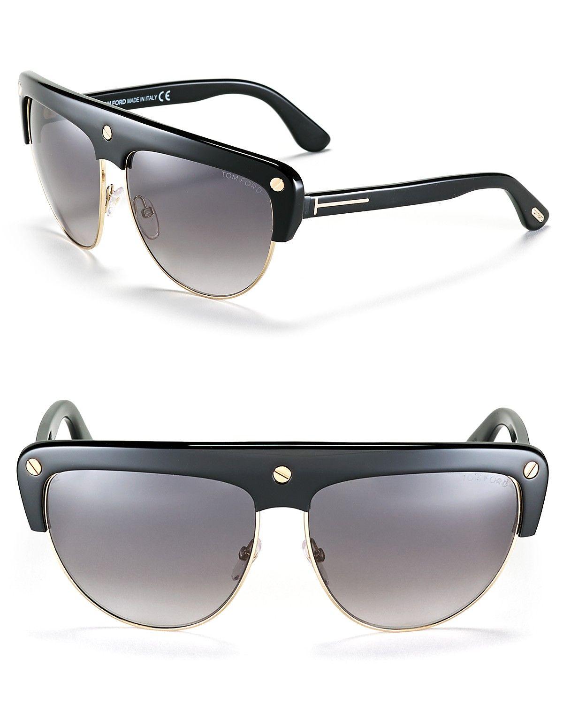 029c97f361b26 Tom Ford Liane Oversized Aviator Shield Sunglasses