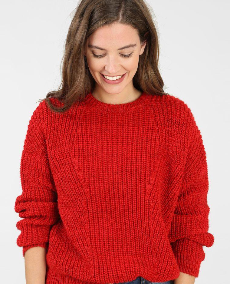 la moitié b7931 243a6 Pull grosse maille rouge | Pimkie | Fashion, Men sweater a ...