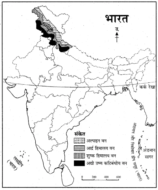 for Class 11 Indian Geography Chapter 8 भारत की प्राकृतिक
