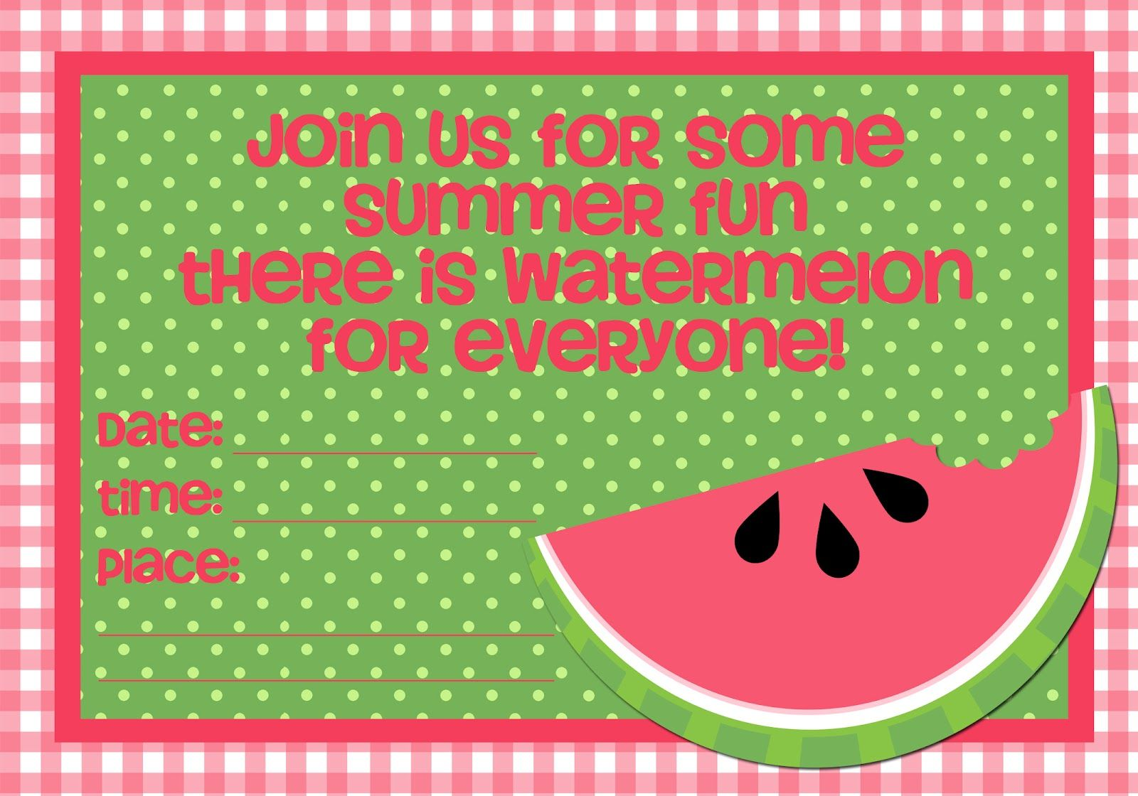 Simply Sprout-watermelon party