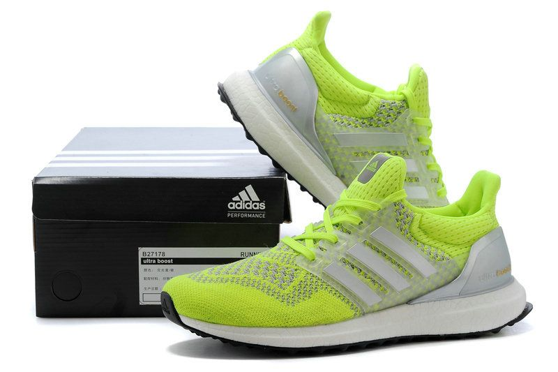 c00f5adb8 Discount adidas Ultra Boost 2016 Volt Lime Green Pure Platinum Black Noir  Youth Big Boys Sneakers