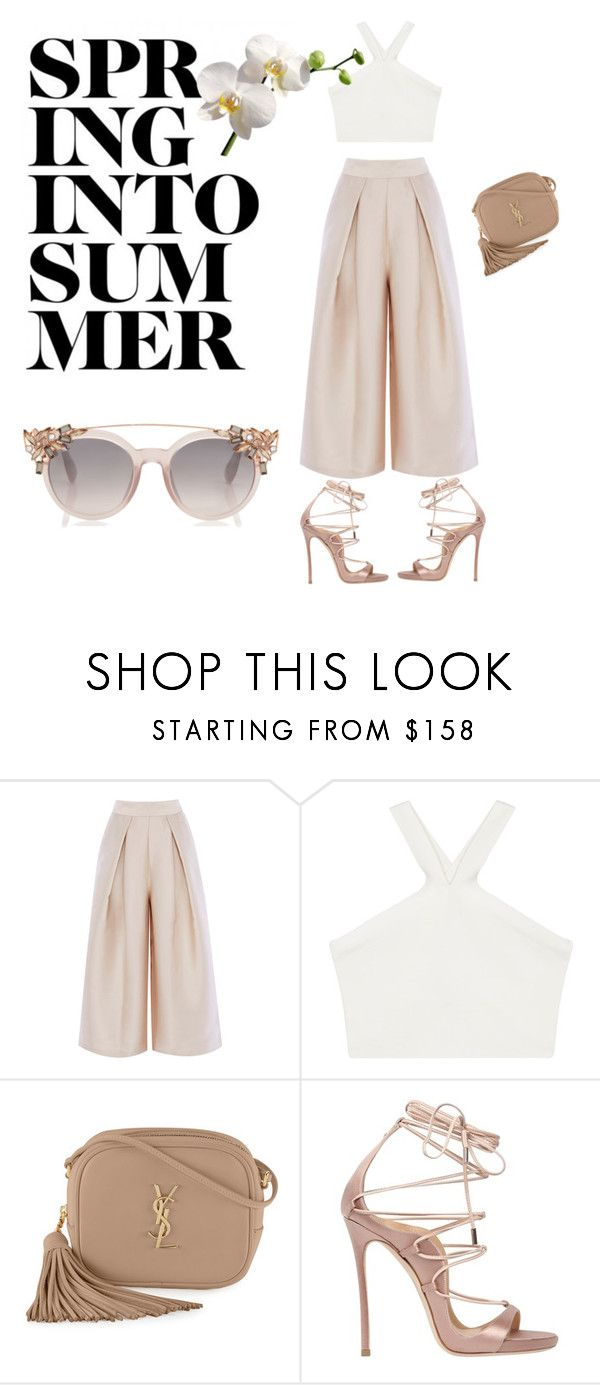 """""""Spring nude"""" by c-otte ❤ liked on Polyvore featuring BCBGMAXAZRIA, Yves Saint Laurent and Dsquared2"""