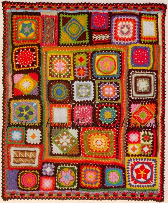 Crochet Blanket Pattern 195 PDF Afghan Granny Blanket plus BONUS ...