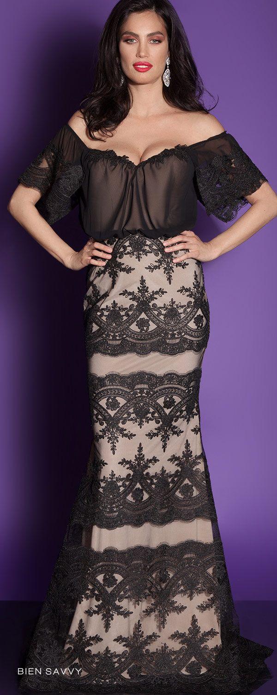 offshoulder black mermaid evening dress i love every day bien