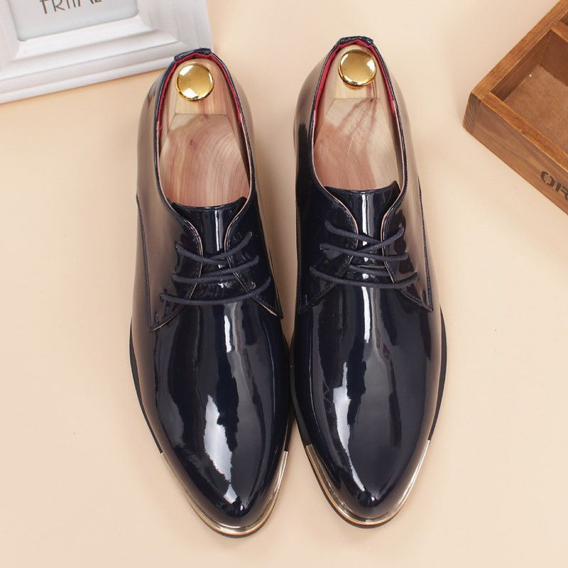 glossy dress shoes white flat wedding shoes patent leather loafers mens  shoes luxury brand italian brand