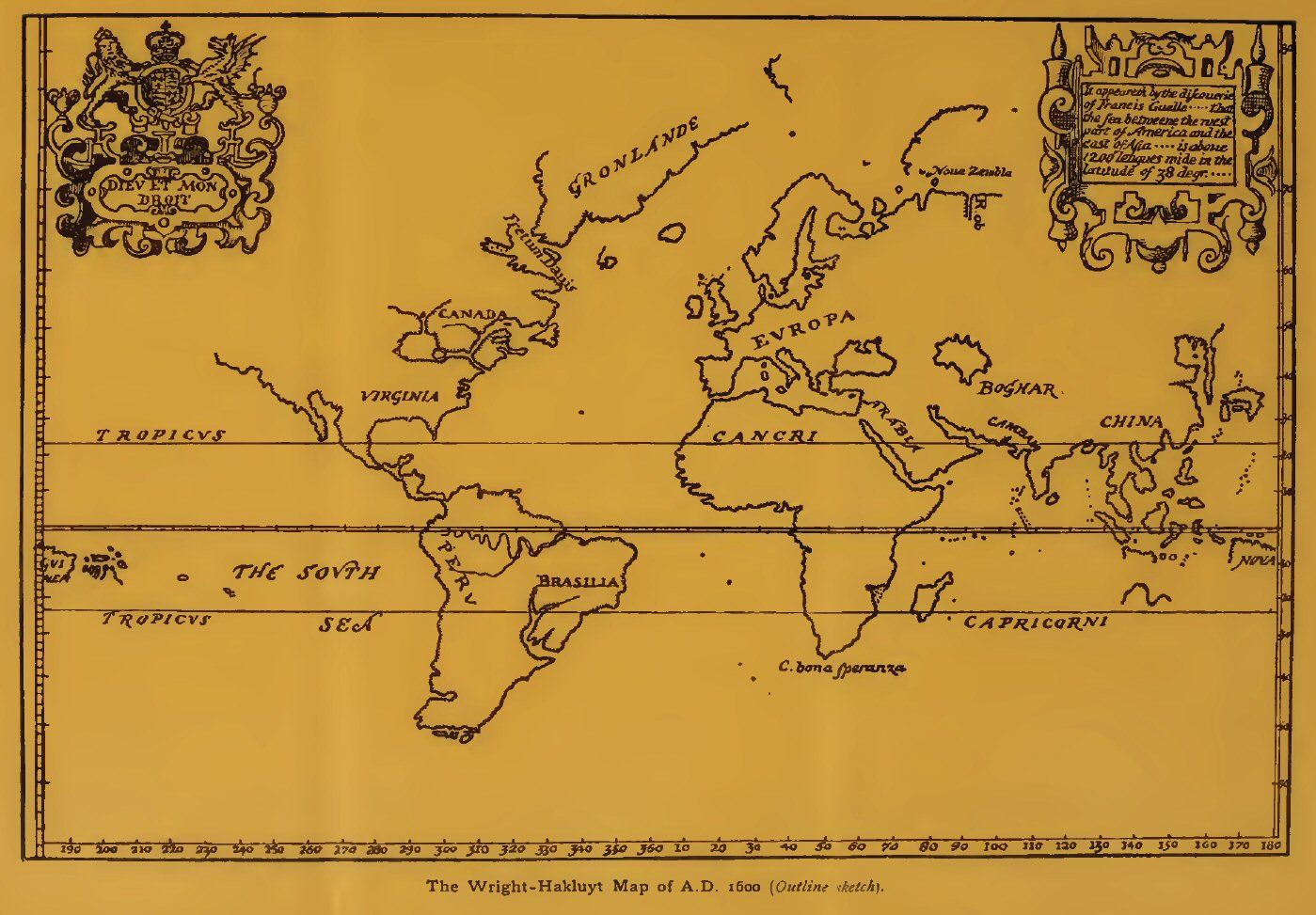 1600 The WrightHakluyt Map of the World  Exploration Maps of
