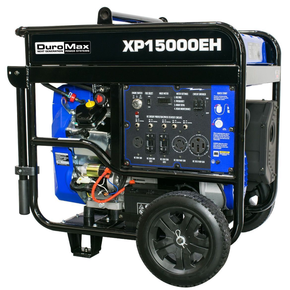 The DuroMax XP15000EH provides the power of a large home