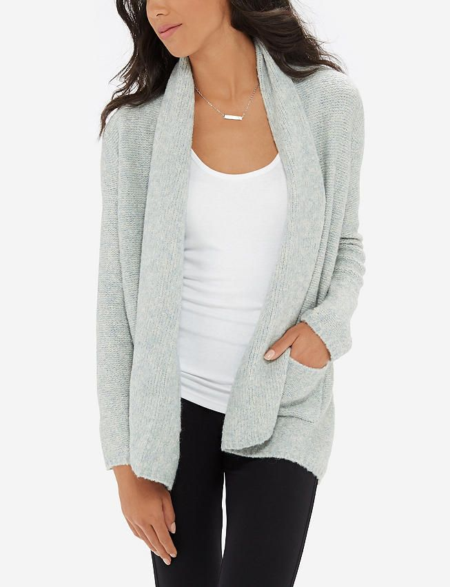 drape grey reviews sweater short front heather sinuous drapes ladies sleeve