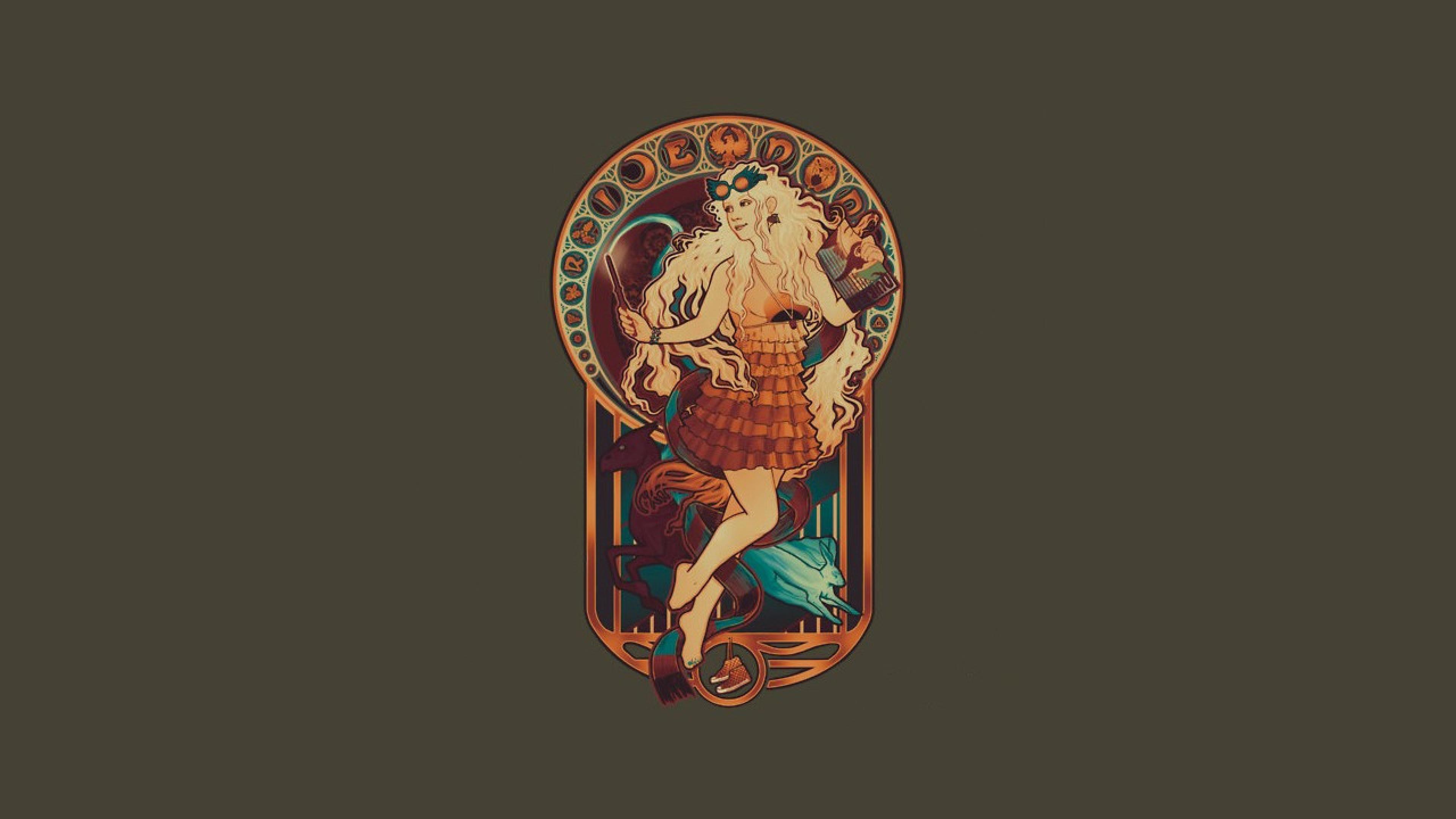 Image Result For Harry Potter Background Luna Lovegood Art Art Nouveau Art