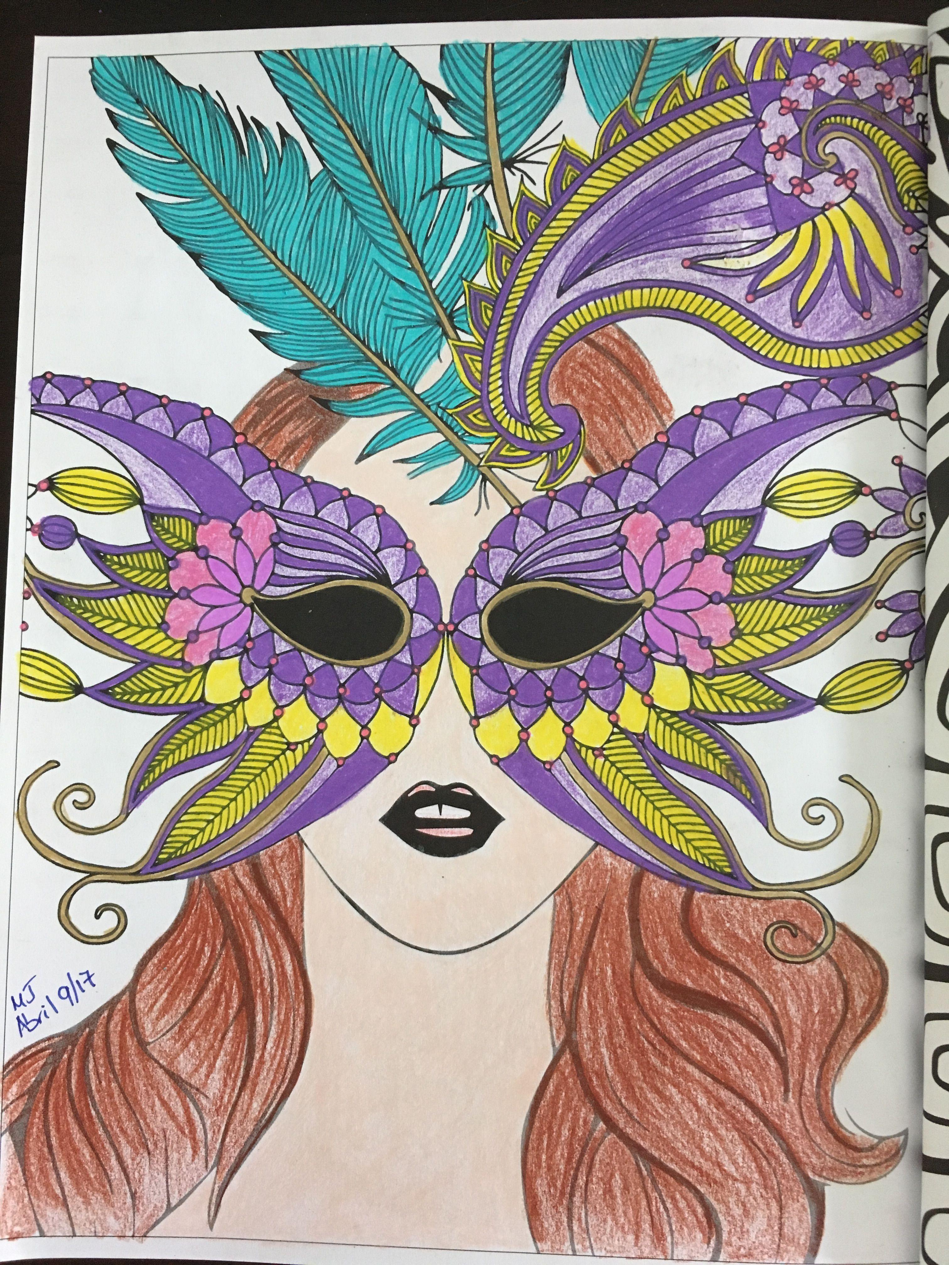 #coloring #coloreando del libro Arte Terapia Zen, colorea máscaras y relájate.