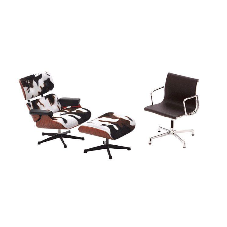 Mini Cowhide Lounge Chair & Black Office Chair | dotandbo ...