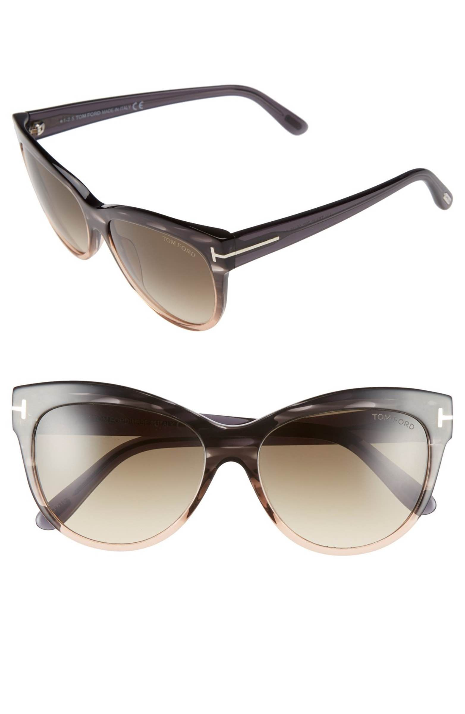 2f0489996ea0a Main Image - Tom Ford  Lily  56mm Cat Eye Sunglasses