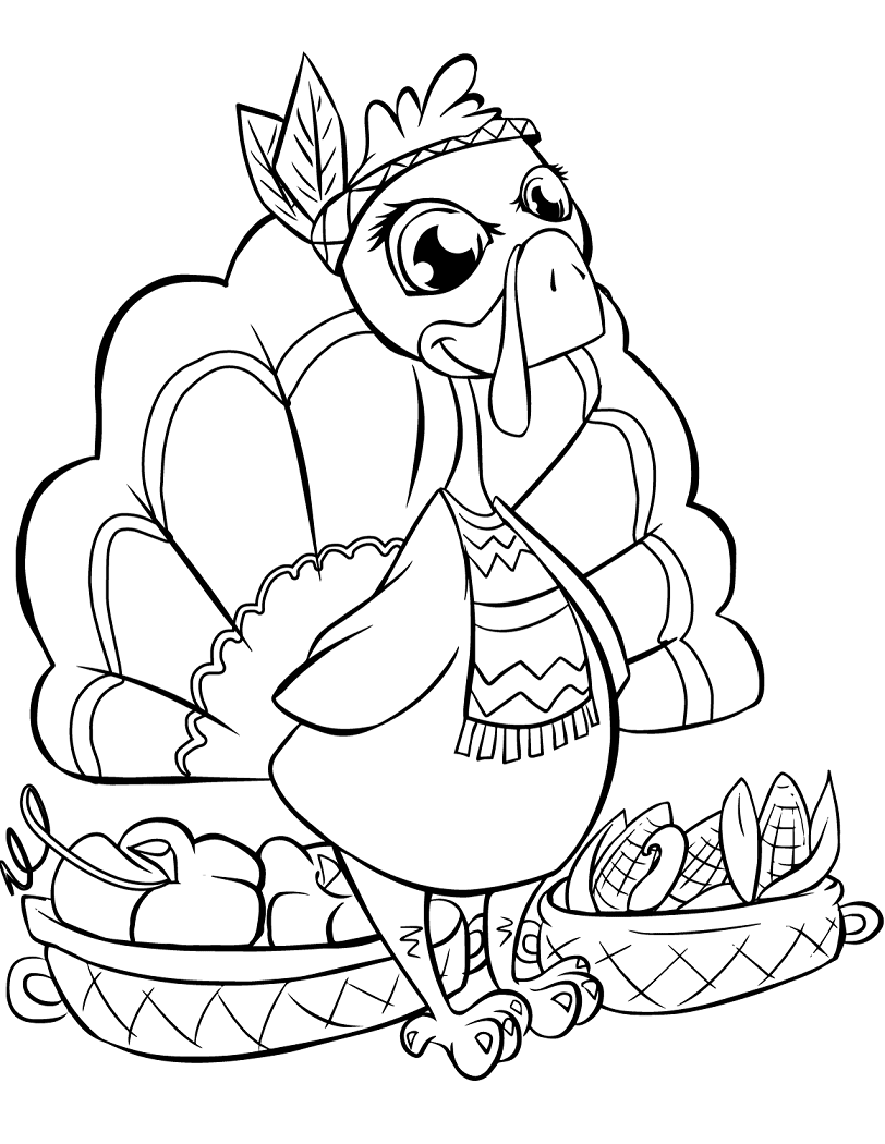 Printable Coloring Pages For Kids Thanksgiving Coloring Book Thanksgiving Coloring Pages Pumpkin Coloring Pages [ 1050 x 812 Pixel ]