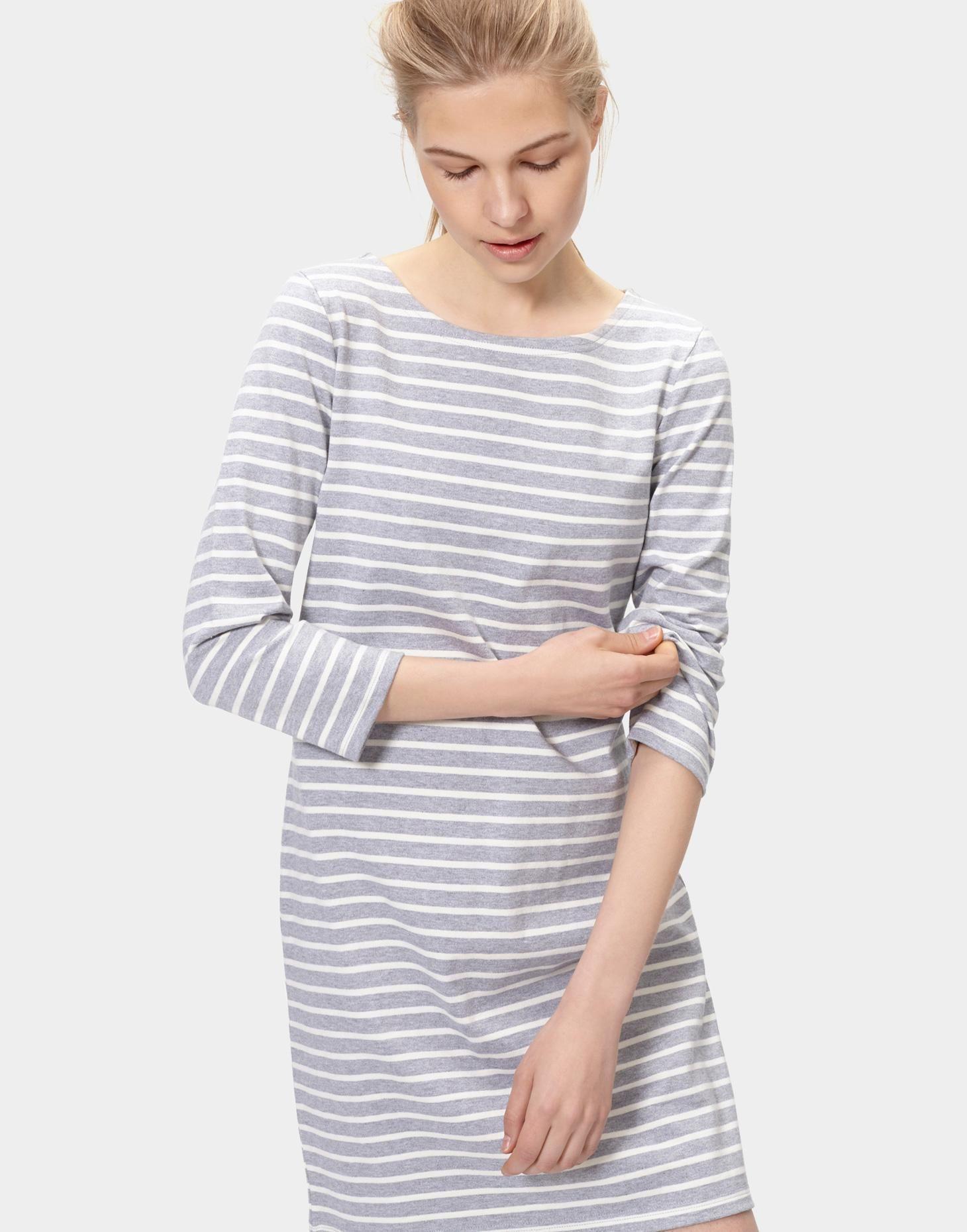 9fdd2da9115 Riviera34 3/4 Sleeve Jersey Dress | Joules | Dresses, Grey stripes ...