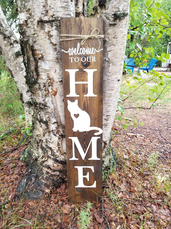 Porch Sign CAT Sign Porch Decor Canada