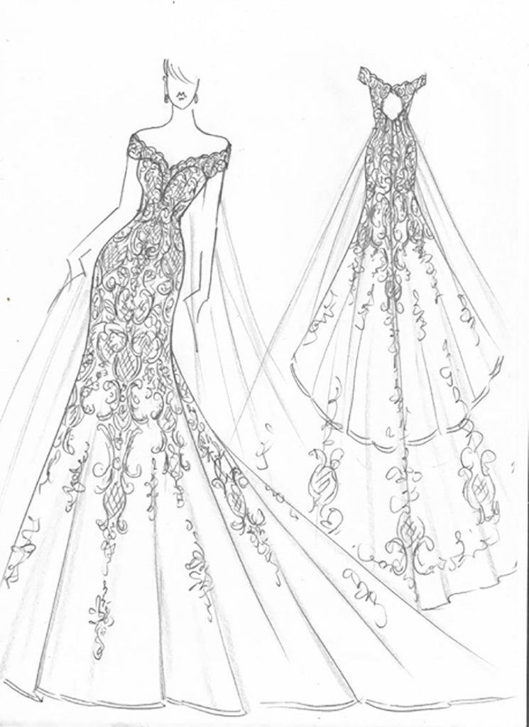 This Is What Meghan Markle S Wedding Dress Will Look Like Dress Design Sketches Wedding Dress Drawings Wedding Dress Sketches