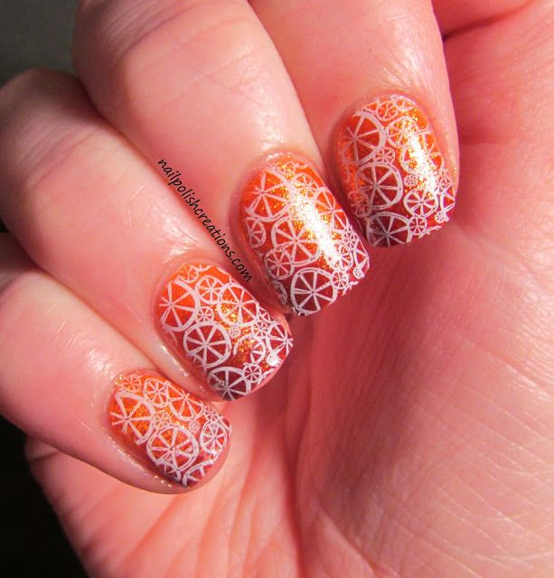 Nail Polish Creations: Stamping Sunday: Orange Base