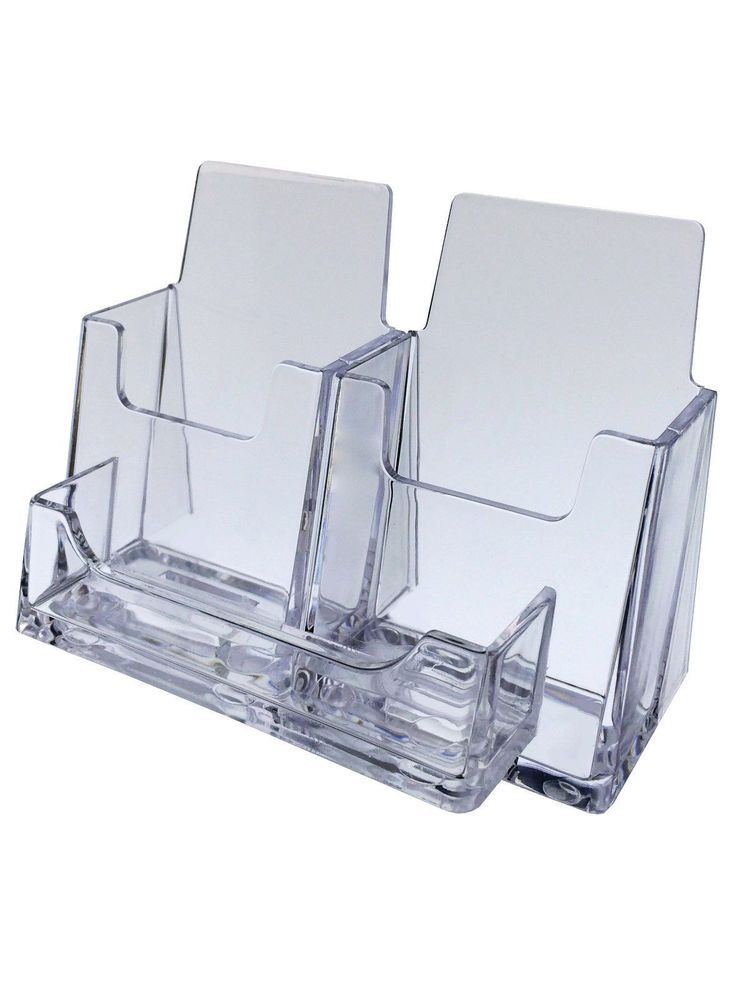 Card Display Stand Business Card Holder 2 Vertical 1 Horizontal Clear Qty 24 Marketi Business Card Holder Display Business Card Holders Clear Business Cards