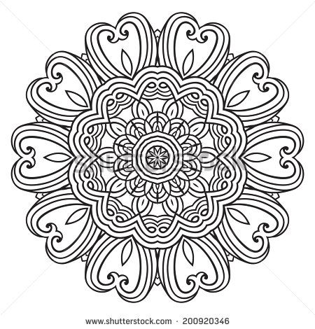 Contemporary Doily Round Lace Floral Pattern Card Circle Mandala Mandala Coloring Pages Mandala Coloring Coloring Pages