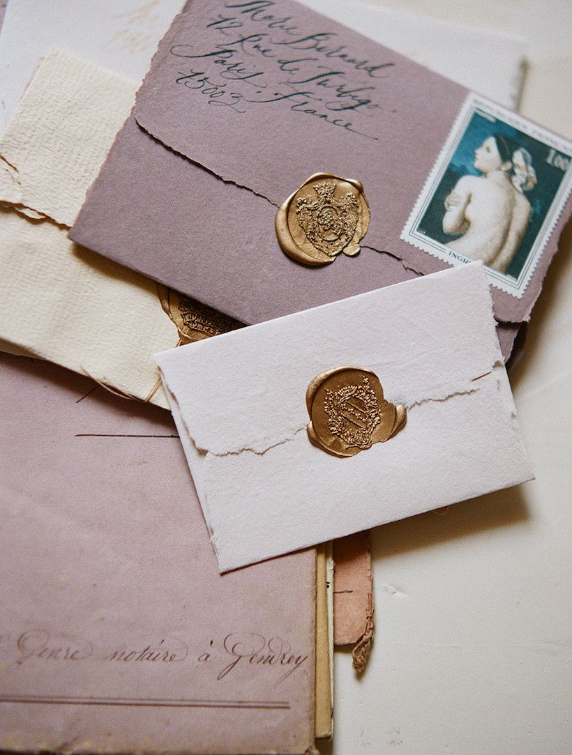 monogram wedding envelope seals sticker%0A    Easy Ways to Make Your Holiday Cards Stand Out  Sealing WaxWedding