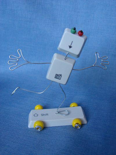 Recy veci: Postavičky zo starej klávesnice | Artmama - ručné práce, tvorivé nápady pre mamičky