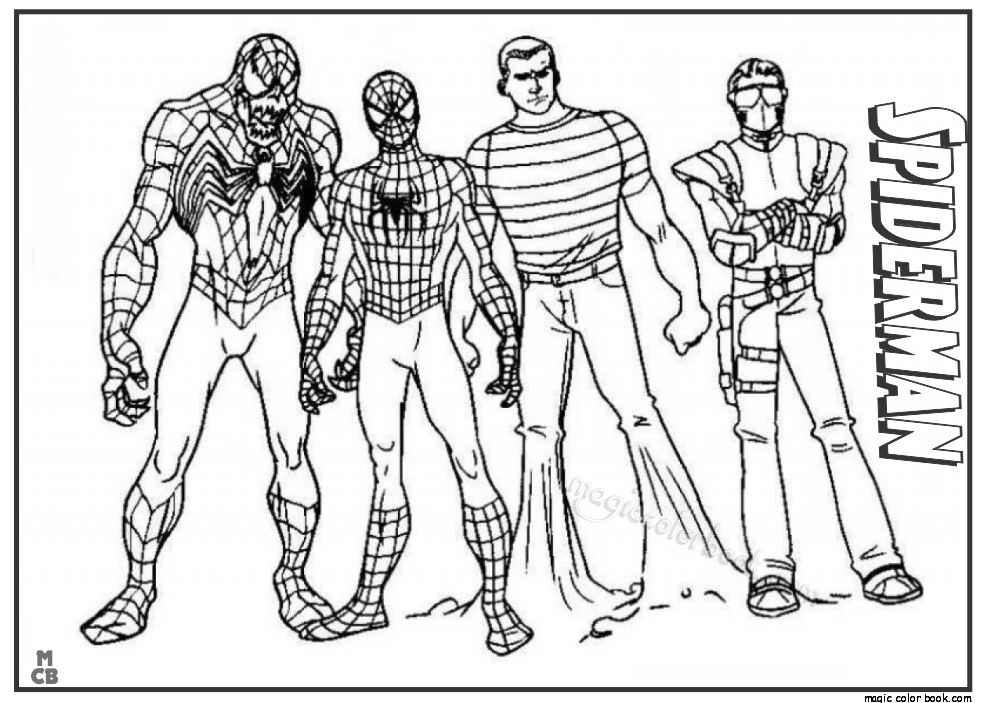 Spider Man Printable Coloring Pages