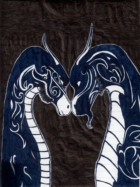 Dragons - Ink pen